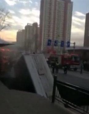 西宁路面坍塌救人少年确认平安!