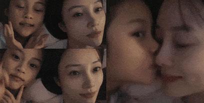 """李小璐分享""""幸福时刻"""" 甜馨睡前乖巧亲吻妈妈"""