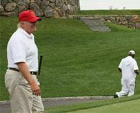 特朗普回应打高尔夫